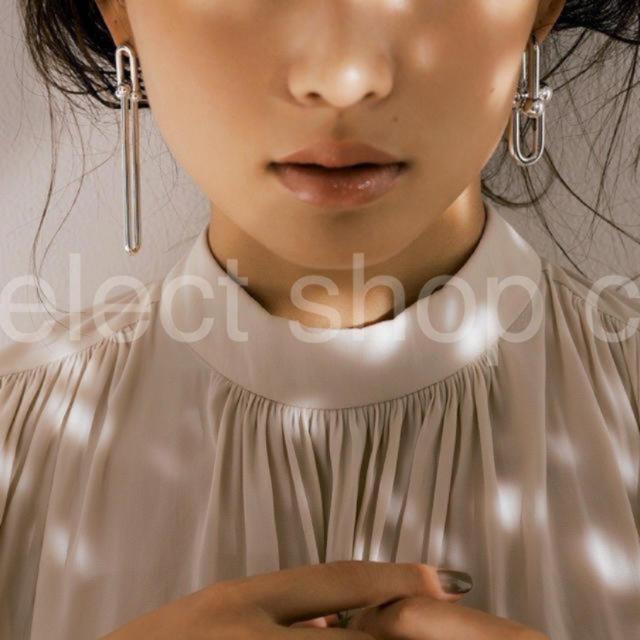 Drawer(ドゥロワー)のハードウェア ダブルロングリンクピアス    レディースのアクセサリー(ピアス)の商品写真