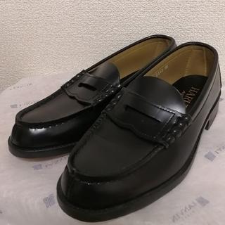 ハルタ(HARUTA)の[美品]HARUTA ローファー 25cm 3E 黒(ドレス/ビジネス)