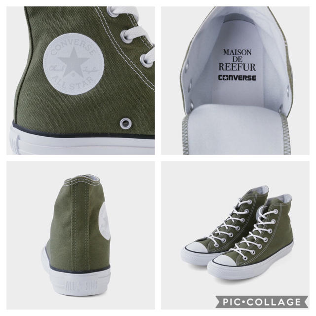 Maison de Reefur(メゾンドリーファー)のメゾンドリーファー ⭐︎コンバースコラボ♡大人かわいいカーキのオールスターが誕生 レディースの靴/シューズ(スニーカー)の商品写真