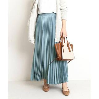 IENA - 新品 サテンプリーツロングスカート