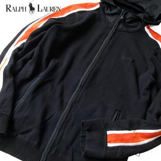 Ralph Lauren - 美品 XL ローレンラルフローレン レディース ニットパーカー ブラック