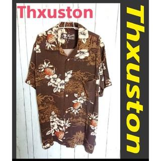 アートヴィンテージ(ART VINTAGE)のThxuston スラクストン 開襟 アロハシャツ 茶 レーヨン オープンカラー(シャツ)