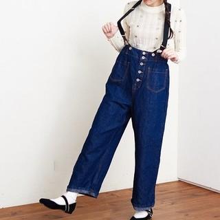 アトリエドゥサボン(l'atelier du savon)のWORK suspenders pants(デニム/ジーンズ)