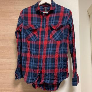 フォーエバートゥエンティーワン(FOREVER 21)のforever21 チェックシャツ S(シャツ/ブラウス(長袖/七分))