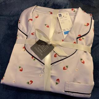 GU - gu サテンパジャマ イチゴ 長袖 XL