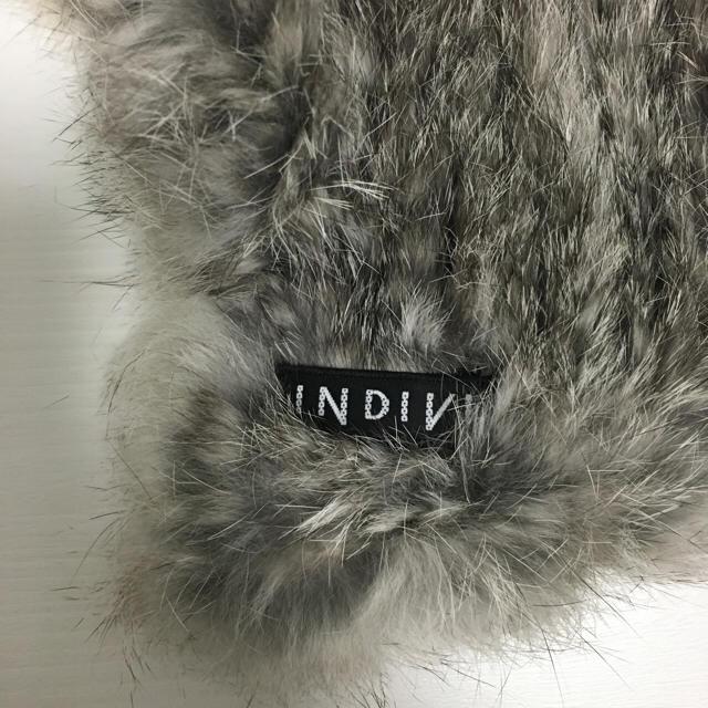 INDIVI(インディヴィ)のINDIVI ラビットファーマフラー レディースのファッション小物(マフラー/ショール)の商品写真