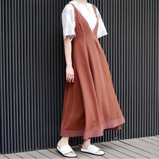 ルシェルブルー(LE CIEL BLEU)のジャンパースカート(ロングワンピース/マキシワンピース)