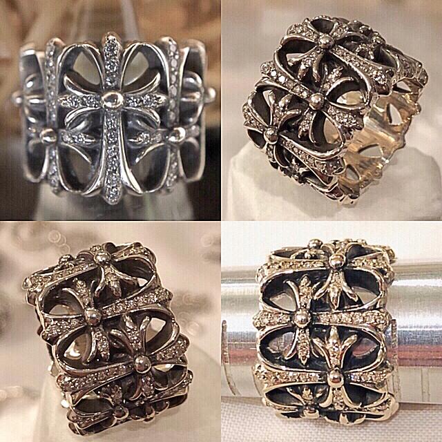 Chrome Hearts(クロムハーツ)のクロムハーツ ダイヤモンド130個 セメタリークロスリング  メンズのアクセサリー(リング(指輪))の商品写真