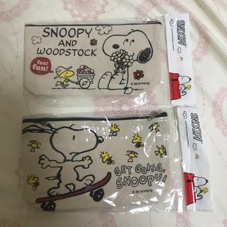 SNOOPY - スヌーピー 帆布ポーチ 2種類♡