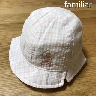 familiar - ファミリア チェック ベビー帽子 43