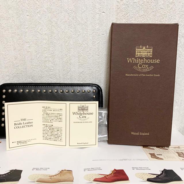 WHITEHOUSE COX(ホワイトハウスコックス)のSOPHNET.別注 ホワイトハウスコックス ジップラウンド・スタッズウォレット メンズのファッション小物(長財布)の商品写真