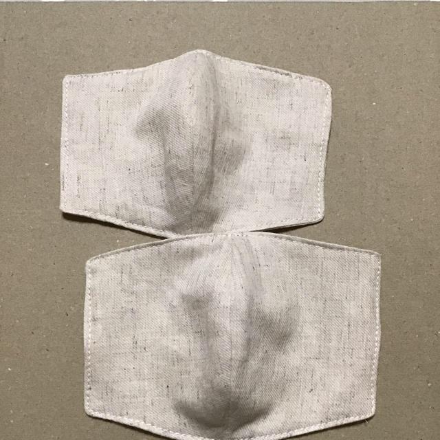 超立体マスク人気,立体インナーますく 薄手 綿麻 ベージュの通販