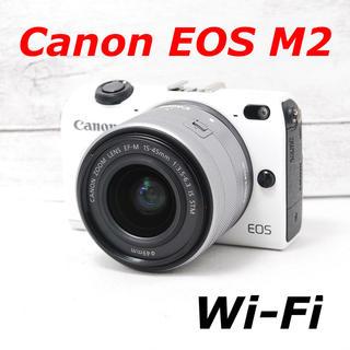 Canon - ❤️カメラカバー付き❤️Wi-Fi搭載❤️Canon EOS M2