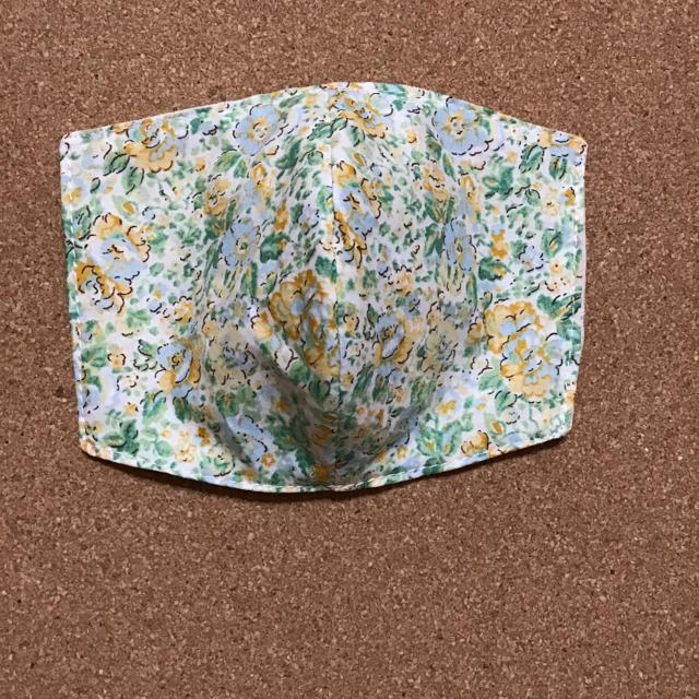 立体インナーますく グリーン系 小花柄 の通販