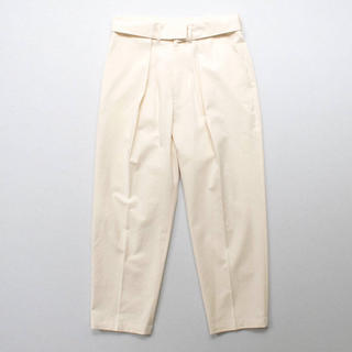 SUNSEA - stein / Double Waist Wide Trousers WHT S