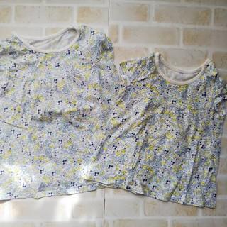 UNIQLO - ユニクロ 小花柄 Tシャツ 80㎝ 100㎝