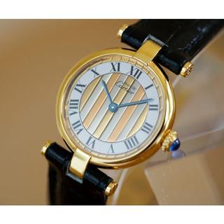 Cartier - 美品 カルティエ マスト ヴァンドーム スリーカラーゴールド ストライプ SM