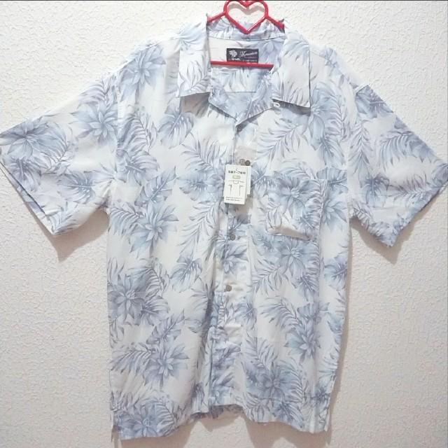 しまむら(シマムラ)の新品 メンズ 5L 開襟 アロハ とろみ シャツ♥️GU アベイル メンズのトップス(Tシャツ/カットソー(半袖/袖なし))の商品写真