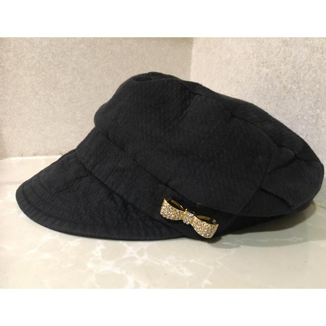 NATURAL BEAUTY BASIC(ナチュラルビューティーベーシック)のキャスケット♡りぼんビジューつき レディースの帽子(キャスケット)の商品写真
