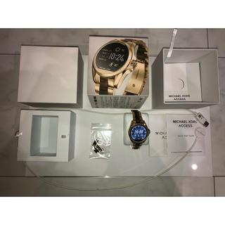 マイケルコース(Michael Kors)のMICHAEL KORS スマートウォッチMKT5003 ゴールド べっ甲 美品(腕時計(デジタル))