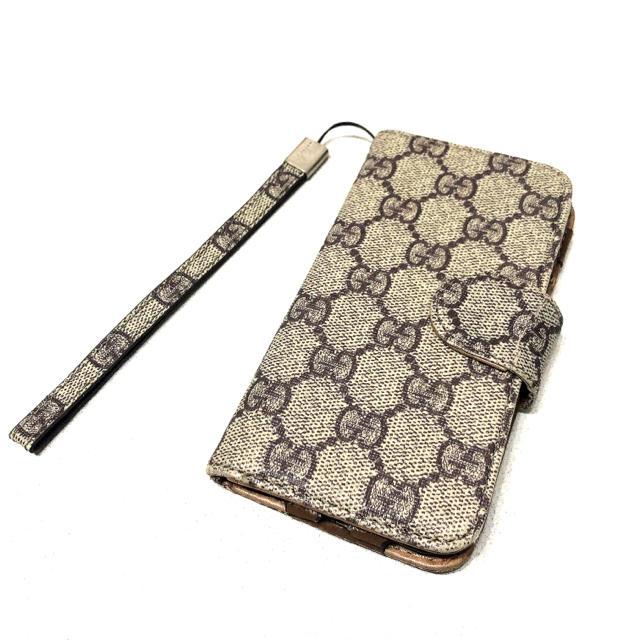 Gucci - GUCCI GG柄 iPhoneケース 手帳型スマホケース iPhone7/8の通販