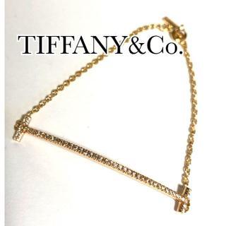 Tiffany & Co. - ティファニー TIFFANY K18PG ダイヤ Tスマイル ブレスレット
