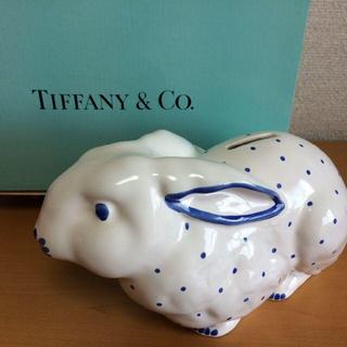 ティファニー(Tiffany & Co.)の【Tiffany & Co.】★入手困難★鍵付きモデル  うさぎの貯金箱(置物)