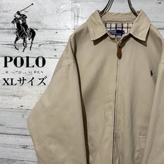 POLO RALPH LAUREN - 【レア】ポロラルフローレン☆刺繍ロゴ 裏チェック柄 スウィングトップ 90s