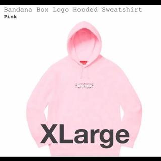 シュプリーム(Supreme)のsupreme bandana box logo パーカー pink バンダナ(パーカー)