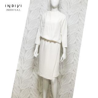 INDIVI - *美シルエット*INDIVI*インディヴィ*ドッキングワンピース*