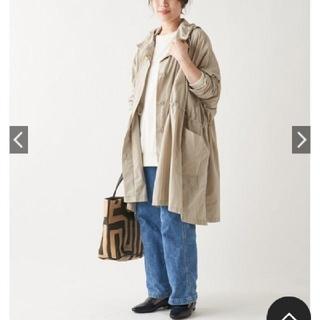 ビアズリー(BEARDSLEY)の33000円 今季 新品 ビアズリー ポンチョ コート ベージュ(ロングコート)