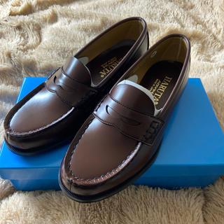 ハルタ(HARUTA)のHARUTA ローファー 人工皮革 ブラウン 23.5 (ローファー/革靴)