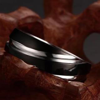 20号 ブラック リング ユニセックス おしゃれ(リング(指輪))