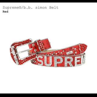 シュプリーム(Supreme)のSupreme  b.b. simon Belt S/M Red 赤 BOX(ベルト)
