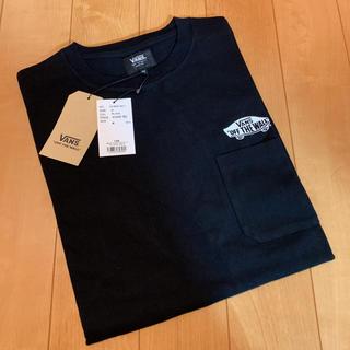VANS - 6380円★VANS★スケボー柄★胸ポケット付★半袖Tシャツ黒★バンズ★ヴァンズ