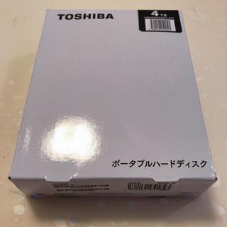トウシバ(東芝)の【新品未開封】東芝 ポータブルハードディスク 4TB(PC周辺機器)