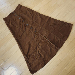 ユニクロ(UNIQLO)のUNIQLO チノフロントボタンロングスカート(ロングスカート)