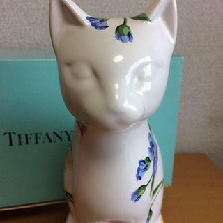 ティファニー(Tiffany & Co.)の【Tiffany & Co.】  猫 フラワー 置物(置物)