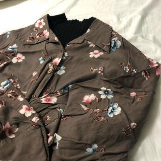 サンタモニカ(Santa Monica)のvintage flowers shirt(シャツ/ブラウス(長袖/七分))