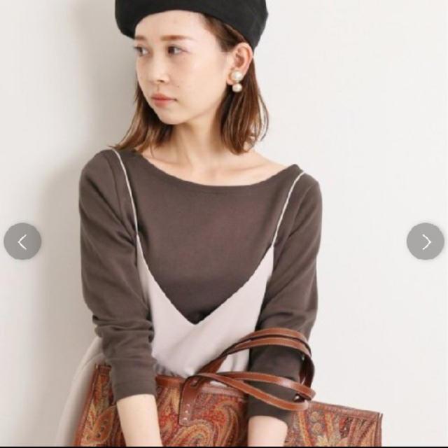 IENA(イエナ)のAURALEE*IENA 別注ボートネックTシャツ  オーラリー イエナ レディースのトップス(カットソー(長袖/七分))の商品写真