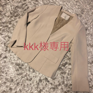 ORIHICA - Kiwa Syilphy キワシルフィー ノーカラージャケット ベージュ スーツ