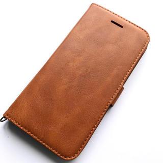 ELECOM - iPhone8Plus/7Plus用レザーケース★磁石★スタンド★カード入★BR