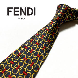 FENDI - 【超美品】FENDI ネクタイ イタリア製 パターン柄