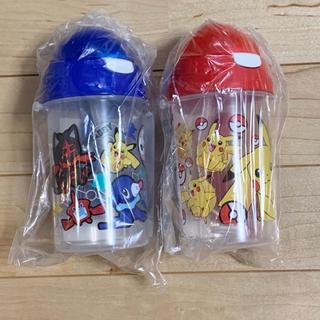 ポケモン - ※新品 オリジナルストロー付きポケモン水筒 赤 青 2個セット
