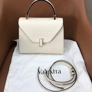 ヴァレクストラ(Valextra)の新品Valextra ヴァレクストラ ミディアム イジィデ ホワイト(ショルダーバッグ)