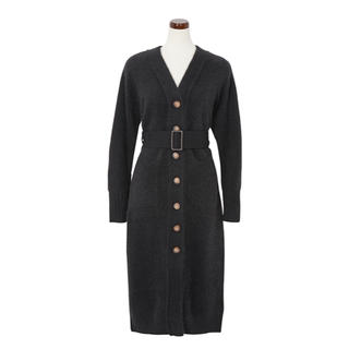 FRAY I.D - herlipto♡Belted Wool-blend Long Cardigan