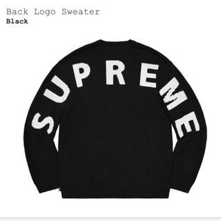 Supreme - supreme back logo sweater black XL