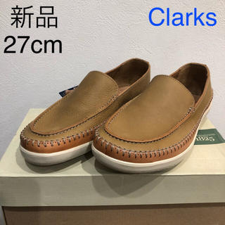Clarks - 新品 クラークス レザー 切替 ステッチ スリッポン ローファー 革靴 シューズ