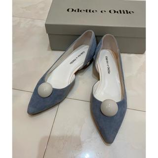 Odette e Odile - Odette e Odile ブルー パンプス 美品 22cm