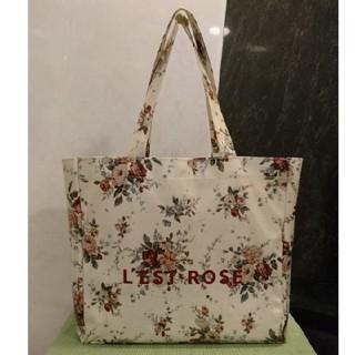 L'EST ROSE - レストローズ  花柄ビッグサイズトートバッグ